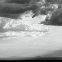 Storm Clouds Gather Over The Desert Black And White Photograph Mohave Desert Arizona By Roupen Baker