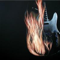 Burning Telecaster