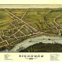 Aerial View Of Richmond, Maine (1878)