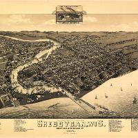 Aerial View Of Sheboygan, Wisconsin (1885)