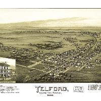 Aerial View Of Telford, Pennsylvania (1894)