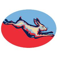 Rabbit Jumping Side Retro