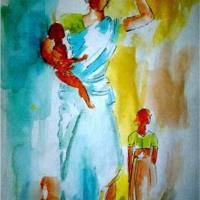 Woman Carrying The World