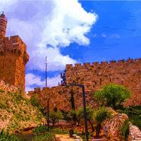 .David`s Tower-symbol Jerusalem.Israel