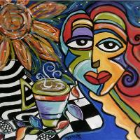 Coffee, Vines, Sun And Picasso Girl