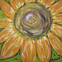 Sunflower Swirl In Golds