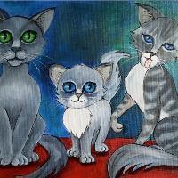 Blue Cat Family