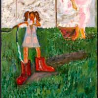 Watering Red Galoshes