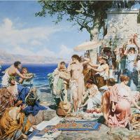 Phryne At The Festival Of Poseidon In Eleusin