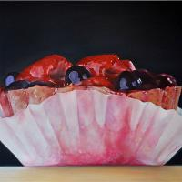 Сake With Raspberries