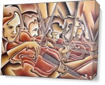 Five Violins As Canvas