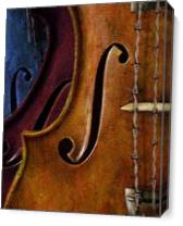 Violin Composition As Canvas