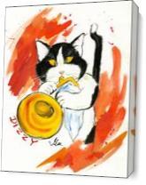 Dizzy Cat As Canvas
