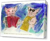 Zydeco Pigs As Canvas