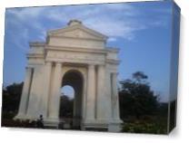 The Monement Of Pondicherry As Canvas