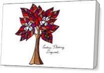 Eastern Flowering Dogwood As Canvas
