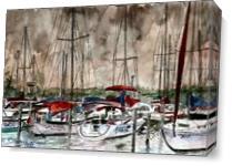 Sailboats Painting Art Print As Canvas