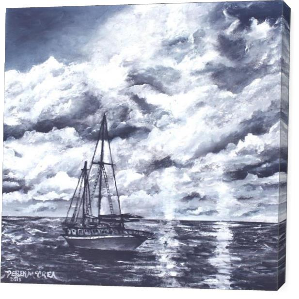 Sailboat Oil Painting Print