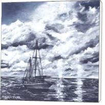 Sailboat Oil Painting Print - Standard Wrap