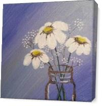 Flower Jar As Canvas