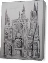 Rouen Cathedral As Canvas