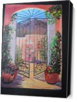 Garden Gate As Canvas