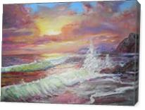 Sunset Waves - Gallery Wrap
