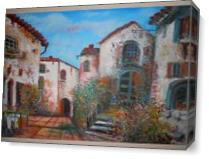Tuscany Village As Canvas