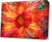 Fire Sunflower As Canvas