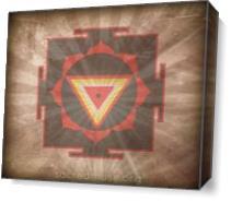 Kali Yantra As Canvas