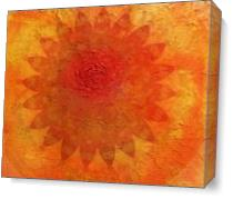 Orange Mandala Of Change As Canvas