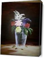 Vase Flowers As Canvas