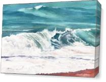 Breaking Waves As Canvas