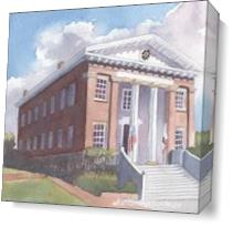 Historic Capitol Building As Canvas
