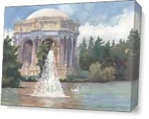 Palace Of Fine Arts As Canvas