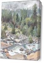 Stanislaus Rapids As Canvas