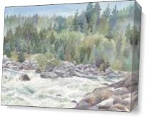 Wild Rapids As Canvas