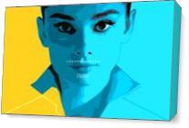 Audrey's Portrait As Canvas