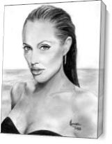 ANGELLINA Jolie As Canvas
