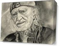Willie Nelson As Canvas