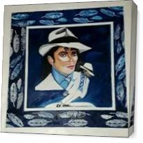 Michael Jackson Perfoming In His Smooth Criminal Video As Canvas