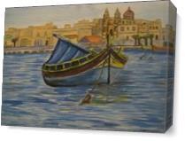 Maltese Luzzu As Canvas