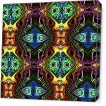 Neon Pinstripes1 A As Canvas