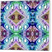 Neon Pinstripes1 B - Standard Wrap