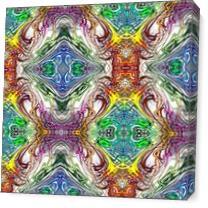 Neon Pinstripes1 C As Canvas