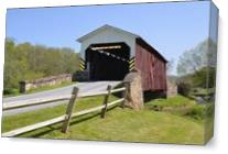 Weavers Mill Covered Bridge As Canvas