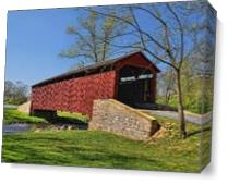 Pool Forge Covered Bridge As Canvas