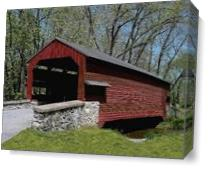 Shearer's Covered Bridge As Canvas