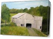 The Old Barn As Canvas