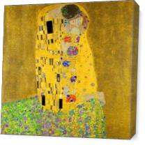 Gustav Klimt The Kiss As Canvas